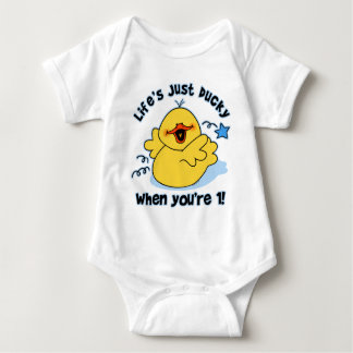 Life's Ducky 1st Birthday T Shirts