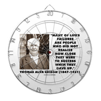 Life's Failures Did Not Realize How Close Success Dart Board