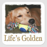 Life's Golden Square Stickers