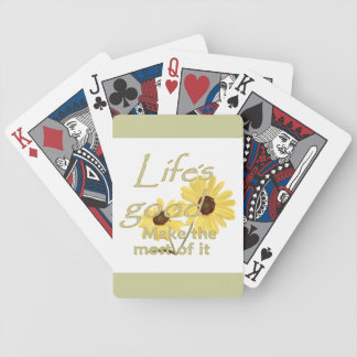 Life's Good Bicycle Playing Cards