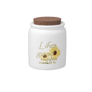 LIFE'S GOOD CANDY JAR