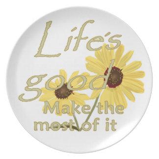 Lifes Good Plate