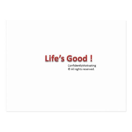 Life's Good Postcard