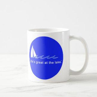 Life's great at the lake! coffee mug