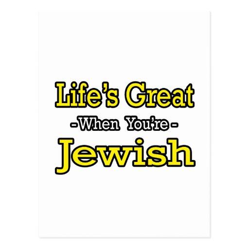 Life's Great...Jewish Postcard