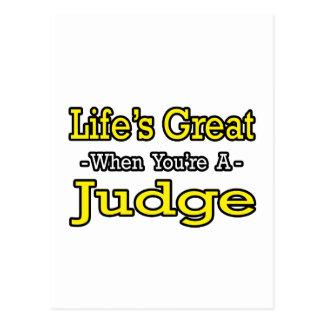 Life's Great...Judge Postcard