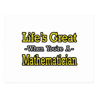 Life's Great...Mathematician Postcard