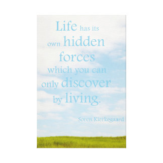 Life's hidden forces wrapped canvas