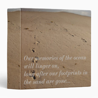 Life's Journey/Footprints in the Sand 3 Ring Binder