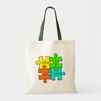 Life's Just A Jigsaw Budget Tote Bag