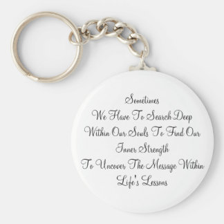 Life's Lesson Keychain