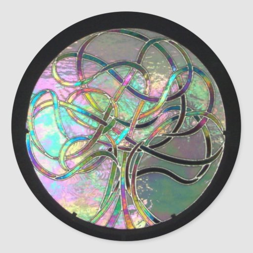 Lifes Lights (stained glass) sticker