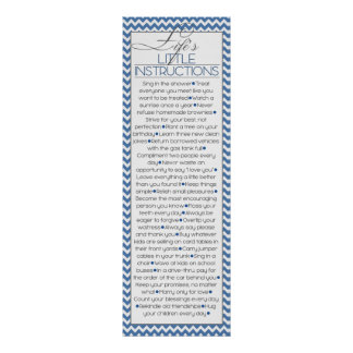 Lifes Little Instructions (navy blue) Posters