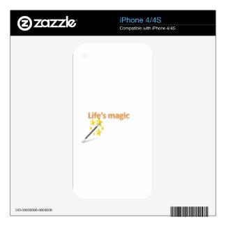 life's magic iPhone 4 decal
