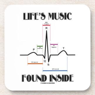 Life's Music Found Inside (ECG/EKG Heartbeat) Coasters