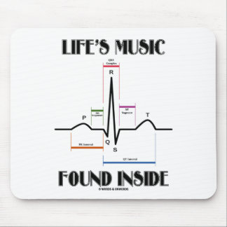 Life's Music Found Inside (ECG/EKG Heartbeat) Mouse Pad