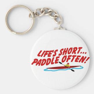 Lifes Paddle OftenShort Basic Round Button Keychain