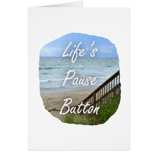 Lifes Pause Button beach ocean florida image Greeting Card