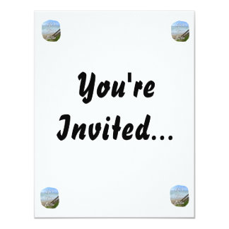 Lifes Pause Button beach ocean florida image 4.25x5.5 Paper Invitation Card