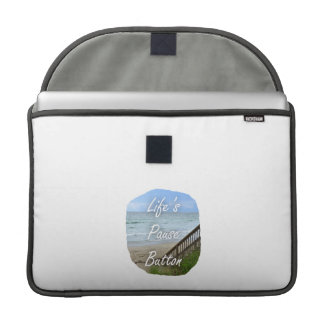 Lifes Pause Button beach ocean florida image Sleeve For MacBooks