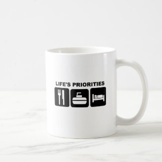 Life's priorities, CURLING Coffee Mug
