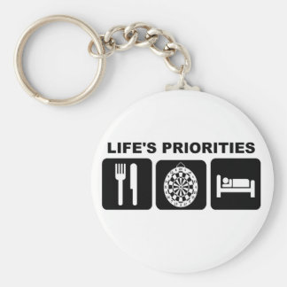 Life's priorities, Darts Keychain