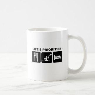 Life's priorities, kayacking coffee mug