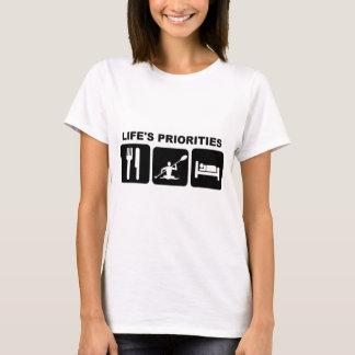 Life's priorities, kayacking T-Shirt