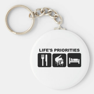 Life's priorities, Piano Music Keychain