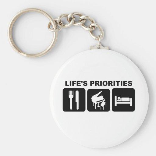 Life's priorities, Piano Music Keychain