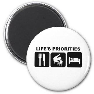 Life's priorities, Piano Music Refrigerator Magnet