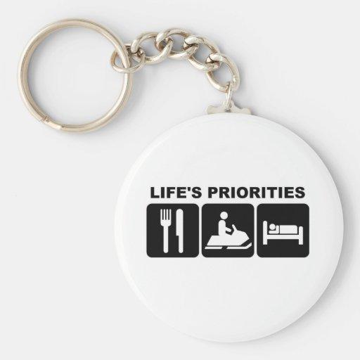 Life's priorities, skidooing key chains