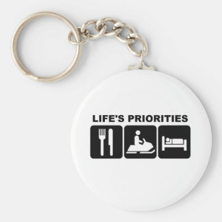 Life's priorities, skidooing keychain