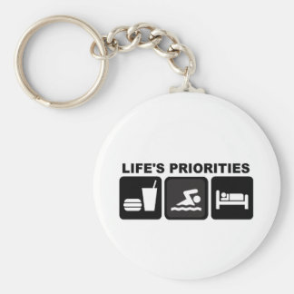 Life's Priorities, Swimming Keychain