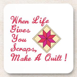 Lifes Scraps Quilting Beverage Coaster