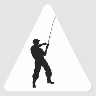 Life's short, fish hard triangle sticker