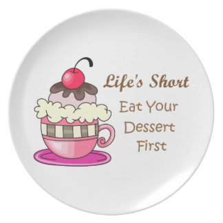LIFES SHORT DINNER PLATES