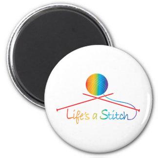 Lifes Stitch 2 Inch Round Magnet