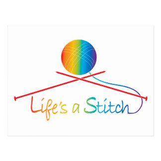 Lifes Stitch Postcard