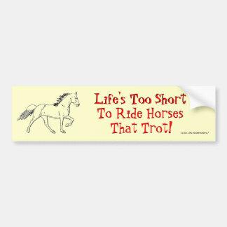 Life's Too Short Car Bumper Sticker