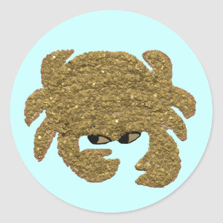 Life's too Short to be a Crab Classic Round Sticker
