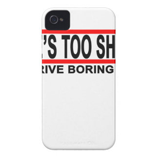 Life's too short to drive boring cars t shirts.png Case-Mate iPhone 4 case