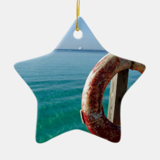 lifesafer del Caribe Adorno Navideño De Cerámica En Forma De Estrella