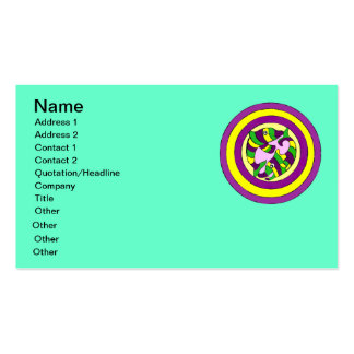 Lifesaver Dolphins into the swirl. Bullseye! Double-Sided Standard Business Cards (Pack Of 100)