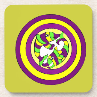 Lifesaver Dolphins into the swirl. Bullseye! Coasters