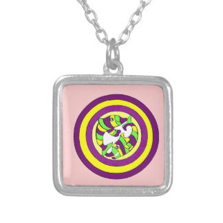Lifesaver Dolphins into the swirl. Bullseye! Personalized Necklace