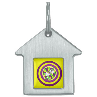 Lifesaver Dolphins into the swirl. Bullseye! Pet ID Tags