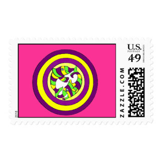 Lifesaver Dolphins into the swirl. Bullseye! Stamps