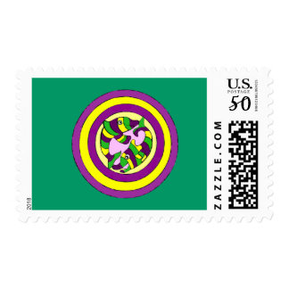 Lifesaver Dolphins into the swirl. Bullseye! Postage