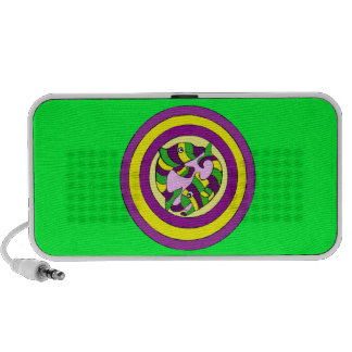 Lifesaver Dolphins into the swirl. Bullseye! Notebook Speakers